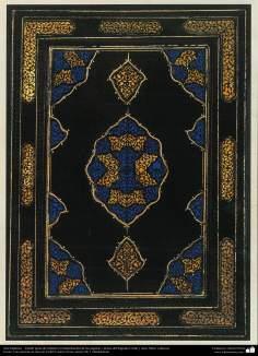 Arte Islámico - Tazhib persa de cubierta; (ornamentación de las páginas y textos del Sagrado Corán y otros libros valiosos) - 60