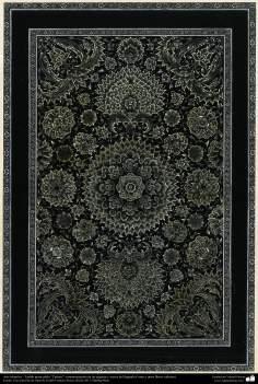 """Arte Islámico - Tazhib persa estilo """"Tasheir""""; (ornamentación de las páginas y textos del Sagrado Corán y otros libros valiosos) - 56"""