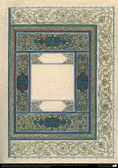 """Arte Islámico - Tazhib persa tipo """"Goshaiesh"""" -apertura-; (ornamentación de las páginas y textos valiosos) - 52"""