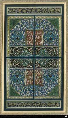 """Arte Islámico - Tazhib persa tipo """"Goshaiesh"""" -apertura-; (ornamentación de las páginas y textos valiosos) - 42"""