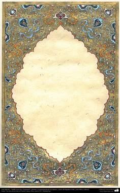 """Arte Islámico - Tazhib persa tipo """"Goshaiesh"""" -apertura-; (ornamentación de las páginas y textos valiosos) - 43"""