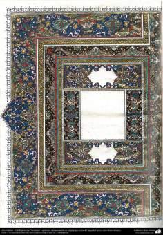 """Arte Islámico - Tazhib persa tipo """"Goshaiesh"""" -apertura-; (ornamentación de las páginas y textos valiosos) - 31"""