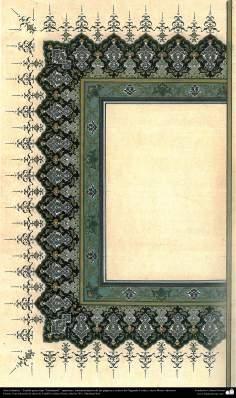 """Arte Islámico - Tazhib persa tipo """"Goshaiesh"""" -apertura-; (ornamentación de las páginas y textos valiosos) - 19"""
