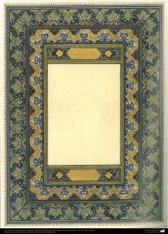 """Arte Islámico - Tazhib persa tipo """"Goshaiesh"""" -apertura-; (ornamentación de las páginas y textos valiosos) - 59"""