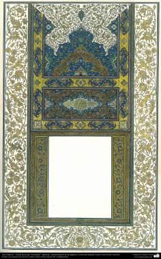 """Arte Islámico - Tazhib persa tipo """"Goshaiesh"""" -apertura-; (ornamentación de las páginas y textos valiosos) - 54"""