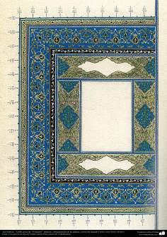 """Arte Islámico - Tazhib persa tipo """"Goshaiesh"""" -apertura-; (ornamentación de las páginas y textos valiosos) - 53"""