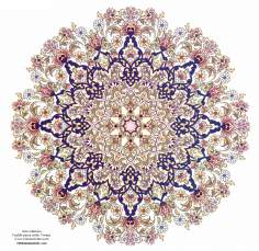 イスラム美術(ペルシアのトランジとシャムス(太陽)スタイルのタズヒーブ(Tazhib)、 絵画やミニチュアでの装飾)- 9