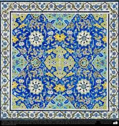 Architettura islamica-Vista di piastrelle utilizzate in pareti,soffitto,cupola e minareto per decorare moschee ed edifici nel mondo islamico-95