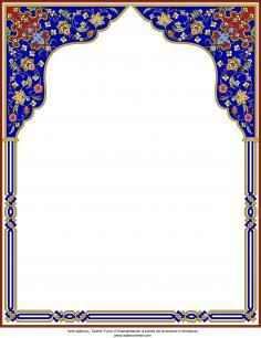 Arte islamica-Tazhib persiana-Cornice-40