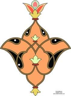 """Islamische Kunst - Türkisches Toranj, Islamische Kunst - Tazhib (Verzierungen von wertvollen Seiten und Texten) - Tazhib, """"Toranj"""" und """"Shamse"""" Stile (Mandala)"""