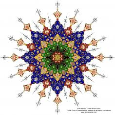 Islamic Art - Turkish Tazhib - Shams Style ( Sun) 29