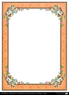 Islamische Kunst – Persisches Tazhib - Rahmen - 29 - Tazhib (Verzierungen von wertvollen Seiten und Texten) - Tazhib im Kader