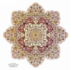 Arte islamica-Tazhib(Indoratura) persiana lo stile Toranj e Shams,Ornamento delle pagine e i testi valorosi mediante dipinto o miniatura-14