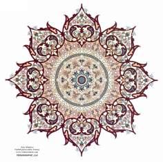 Arte islamica-Tazhib(Indoratura) persiana lo stile Toranj e Shams,Ornamento delle pagine e i testi valorosi mediante dipinto o miniatura-12