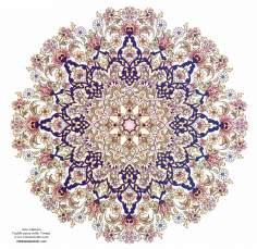 الفن الإسلامي - تذهیب الفارسی بأسلوب البرغموت و الشمس - تزیین من الطریق الرسم أو المنمنمة – 9
