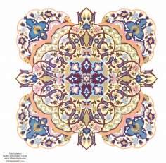 Arte islamica-Doratura persiana(Tazhib) lo stile Toranj e Shams-Ornamenti tramite pittura o miniatura-6