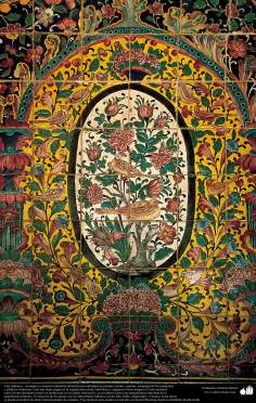 Islamic Art - enamel and mosaic (Kashi Kari) on ceilings, domes, minarets, mosques and islamic buildings - 46