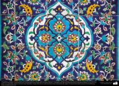 Islamic art and Islamic mosaics -Tile (Kashi Kari) made in walls, ceilings, domes, minarets of mosques - 20