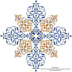 Art islamique - Tazhib turque - dans la case