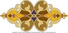 イスラム美術(ペルシアのトランジとシャムス(太陽)スタイルのタズヒーブ(Tazhib)、 絵画やミニチュアでの装飾)- 63