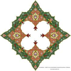 Islamic Art - Turkish Tazhib - Toranj and Shamse Styles (Mandala) - 4