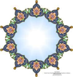 """Persisches Kunsthandwerk -  Verziertes Tintenfass in Khatami Kari - Islamische Kunst - Tazhib (Verzierungen von wertvollen Seiten und Texten) - Tazhib, """"Toranj"""" und """"Shamse"""" Stile (Mandala)"""
