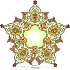 Islamische Kunst - Türkisches Tazhib  (Verzierungen durch Malereien und Miniatur) -  Tazhib (Verzierungen von wertvollen Seiten und Texten) - Tazhib im Kader