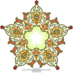 Islamic Art - Turkish Tazhib - Toranj and Shamse Styles (Mandala) - 7