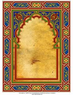 Arte islámico – Tazhib Turco (Ornamentación a través de la pintura o miniatura) -Cuadro - 96