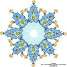 Islamic Art - Turkish Tazhib - Shams Style ( Sun)