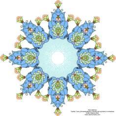 Art islamique turc Tazhib (ornementation à travers la peinture ou miniature)