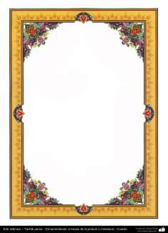 Islamische Kunst - Persisches Tazhib - Rahmen - 69 - Tazhib (Verzierungen von wertvollen Seiten und Texten) - Tazhib im Kader