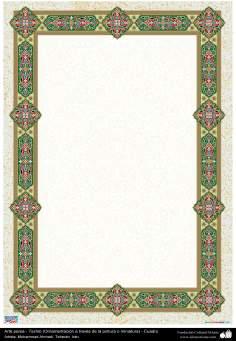 Arte Islâmica - Tazhib persa em quadro (ornamentação através da pintura ou miniatura) 76