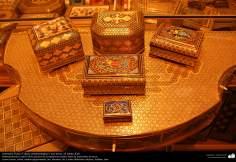 اسلامی ہنر - خاتم کاری کے فن سے ہاتھ سے سجایا ہوا باکس - ۸