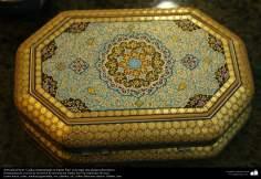 Artesanato Persa - Caixinha ornamentadas em Khatam Kari.