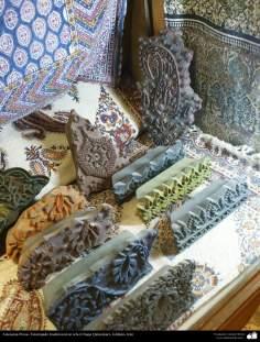 イスラム美術(手工芸品 、布に伝統的なスタンプをする業(Chape Qalamkar) -6