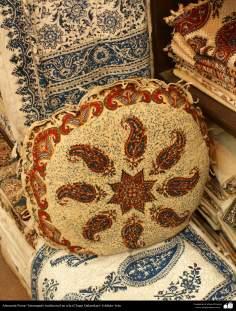 Artesanato Persa - Estampado tradicional em tecido (Chape Qalamkar) Isfahan, Irã - 12