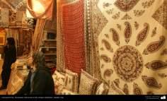 Artesanato Persa - Estampado tradicional em tecido (Chape Qalamkar) Isfahan, Irã - 16