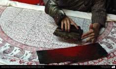 イスラム美術(手工芸品 、布に伝統的なスタンプをする業(Chape Qalamkar) -15