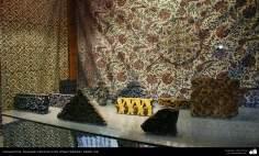 イスラム美術(手工芸品 、布に伝統的なスタンプをする業(Chape Qalamkar) -13