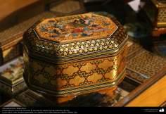 Artesanato Persa - Caixinha ornamentada Khatam Kari (marchetaria e ornamentação de objetos), Isfahan, Irã - 19