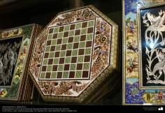 اسلامی ہنر - فن خاتم کاری سے ہاتھ سے سجایا ہوا باکس (ایک قسم کا مرصع جڑنا) ، ایران - ۴۱
