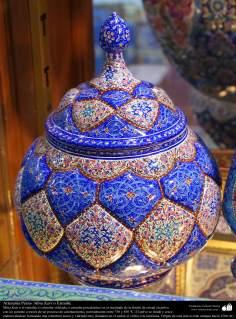 Artesanato Persa -linda peça decorativa - Mina Kari - Esmaltagem