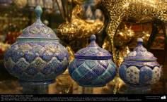 Artesanato Persa - Mina Kari o esmalte. Técnica de ornamentação de objetos criada no Irã no ano de 1500 a.C - 15