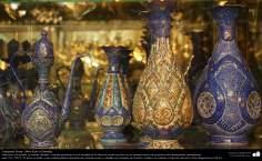"""Persisches Kunsthandwerk """"Mina Kari"""" - Vasen in Keramik - Kunsthandwerk - Politur ( Mina Kari) - Foto"""