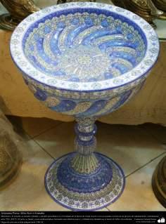 Artesanato Persa - Mina Kari o esmalte. Técnica de ornamentação de objetos criada no Irã no ano de 1500 a.C - 8