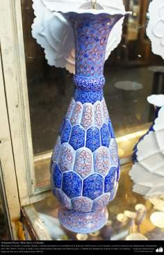 Artesanato Persa - Mina Kari o esmalte. Técnica de ornamentação de objetos criada no Irã no ano de 1500 a.C - 7