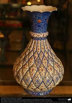 Artesanato Persa - lindo e detalhado vaso - Mina Kari - Esmaltagem