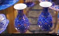 Artesanato Persa - Mina Kari o esmalte. Técnica de ornamentação de objetos criada no Irã no ano de 1500 a.C - 14