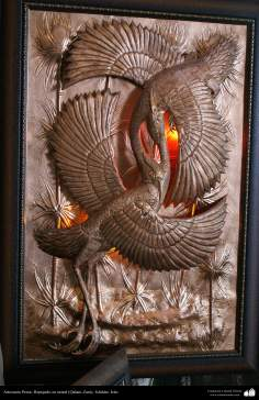 Artesanato Persa - metal em relevo (Qalam Zani) Isfahan, Irã - 21